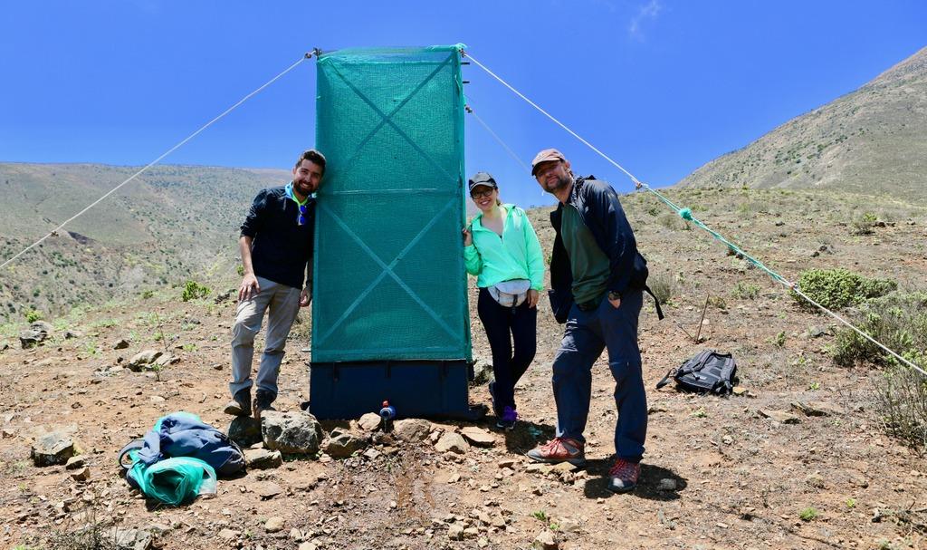 Equipo Triple Hélice UCN en cerros de Paposo. | Triple Helice UCN